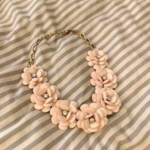 J crew Blush Floral statement necklace